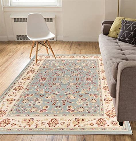 thin area rugs damghan floral blue 8 215 10 8 2 quot x 9 10 quot traditional