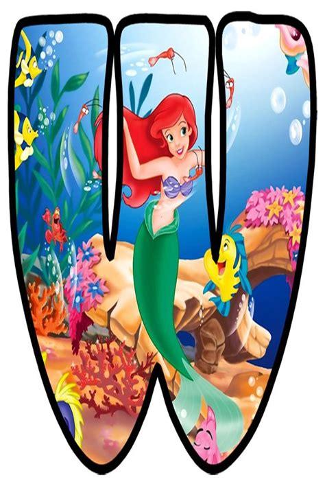 buchstabe letter  disney scrapbook disney alphabet ariel   mermaid