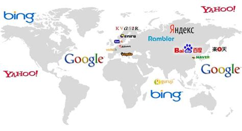 search engines world map smart insights