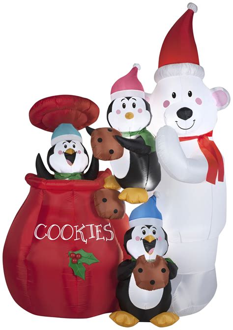 gemmy christmas airblown inflatables animated cookie jar
