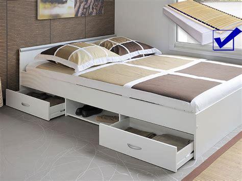 Jugendbett Bett 140x200 Weiss + Lattenrost + Matratze