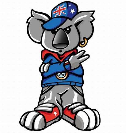 Koala Rap Cartoon Australian Funny Della Comic