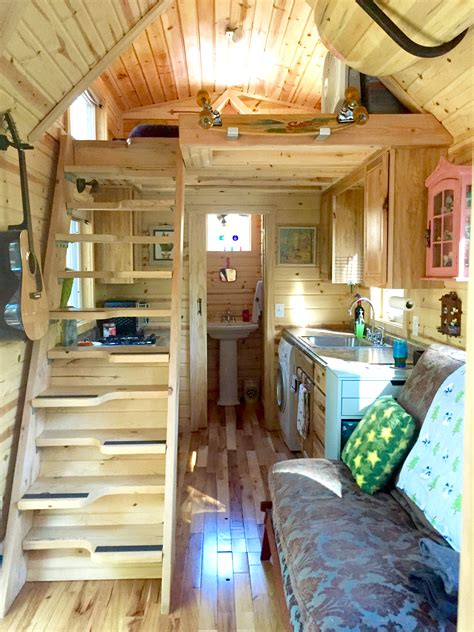 interiors of tiny homes nicki s colorful tiny house after one year