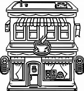 Coloring Pages For Restaurants: Restaurant colouring pages.