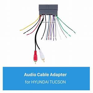 Top Audio Cable Wiring Harness Plug Adapter For Hyundai Tucson