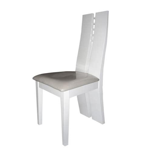 chaise séjour chaise sejour white blanc brillant