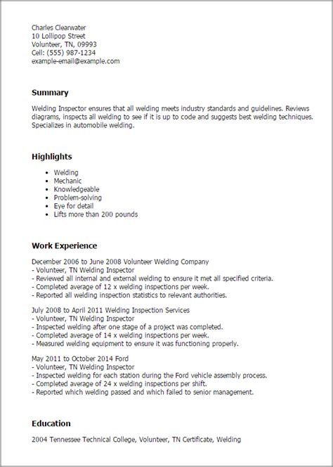 cover letter exles for quality inspector