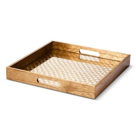 decorative tray threshold wooden decorative tray with gold pattern