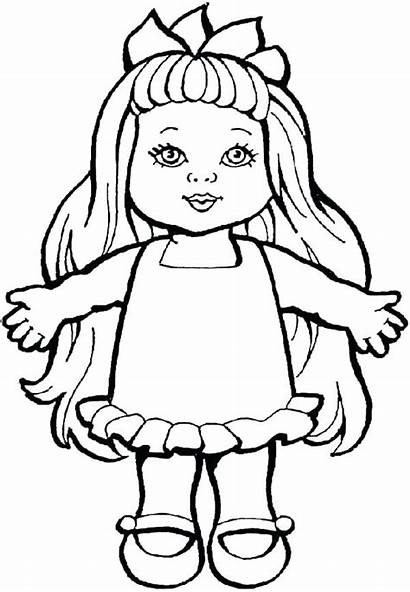 Doll Coloring Pages Drawing Sheets Toys Dolls