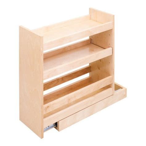 Base Pull out spice rack cabinet   fits 9 inch full height