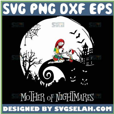 Nightmare before christmas svg,jack skellington svg,commercial use,digital file svg,halloween svg,instant download, cricut or silhouette price: Sally Mother Of Nightmares Halloween Moon SVG, Nightmare ...