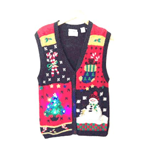 vintage 90s light up sweater vest the
