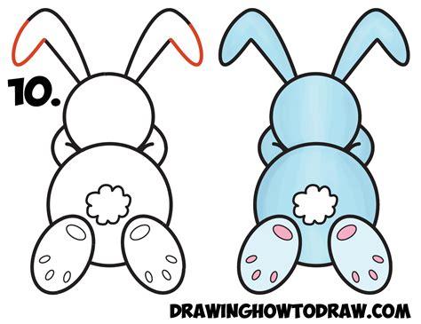 draw  cute cartoon sleeping bunny rabbit