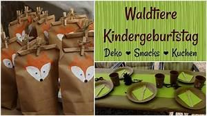 Deko Für Kindergeburtstag : waldtiere kindergeburtstag diys deko snacks und kuchen youtube ~ Frokenaadalensverden.com Haus und Dekorationen
