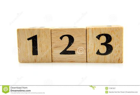Wooden Blocks With Numbers 1 2 3 Royalty Free Stock