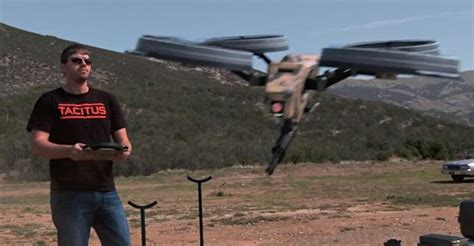 ipad controlled flying drone boasts mounted  machinegun  destruct imore