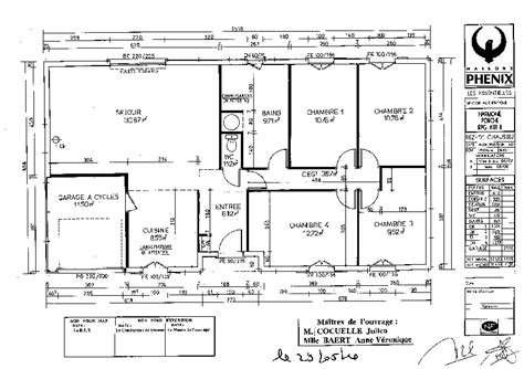 plan interieur de maison plain pied