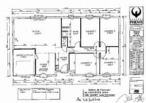 plan maison plein pied 100m2 avec garage With wonderful modele de plan maison 0 maison plain pied garage double