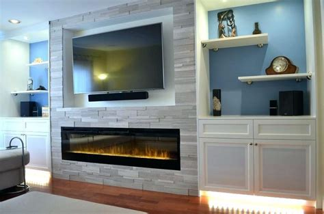 image result   linear fireplace  bump   tv