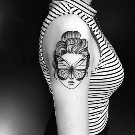 gesichts tattoos zum aufkleben 1001 ideen f 252 r blackwork zum genie 223 en