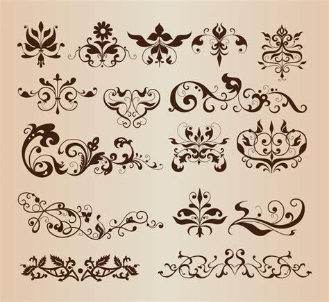 Elegant Decorative Floral Design Elements Vector