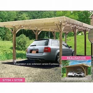 Carport 2 Voitures Bois : carport bois autoclave 6x5m abri pour 2 voitures solid ~ Dailycaller-alerts.com Idées de Décoration