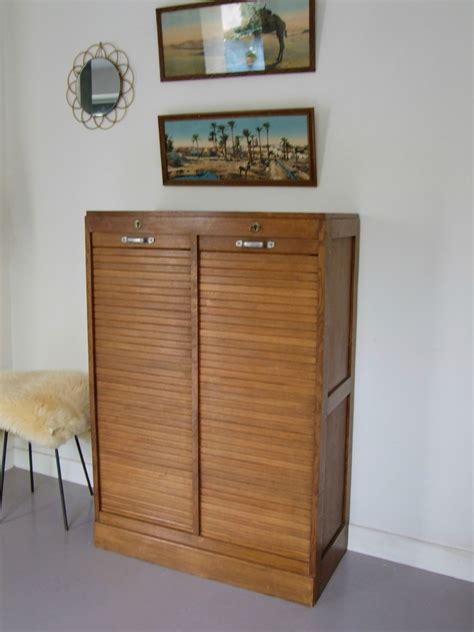 classeur a rideau vintage double meubles vintage