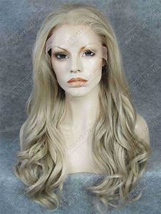 S07 Body Wavy Ash Blonde Long Synthetic Hair Lace Front