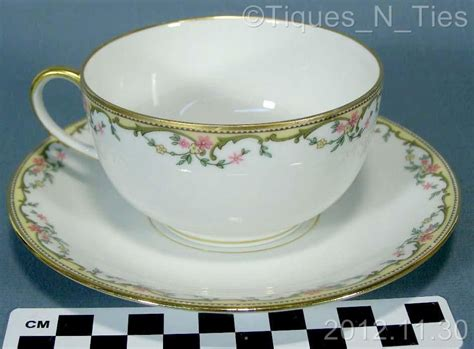 Antique Vignaud Limoges France China The Meuse Pink