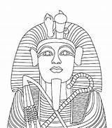Coloring Egyptian Pages Egypt Sarcophagus Pharaoh Mummy King Coffin Statue Ramses Drawing Ii Gold Tut Children Tutankhamun Tutankhamen Theme Body sketch template