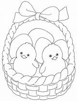 Easter Coloring Basket Pages sketch template