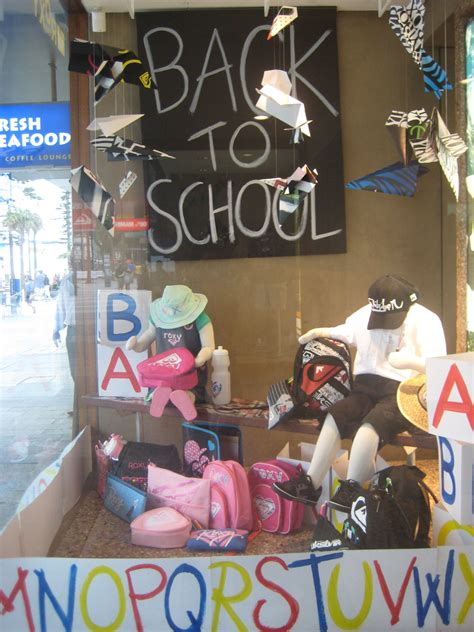 Back to School Window Display Ideas