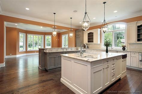2 island kitchen pictures of kitchens traditional white kitchen cabinets page 7