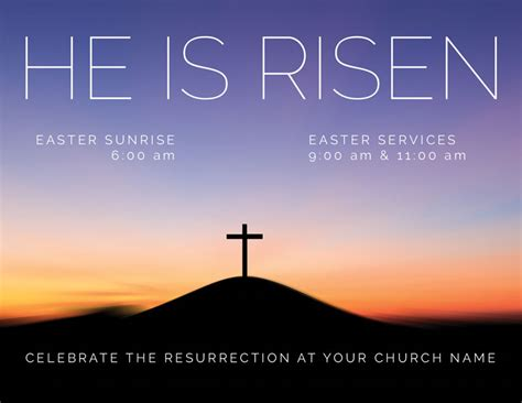 risen sunrise invitecard church invitations
