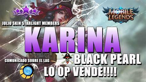 Mobile Legends Karina Black Pearl ★ Starlight Members