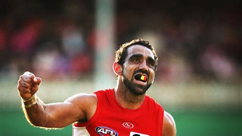An adnyamathanha man, adam goodes is a champion australian rules football player with the sydney swans. Play The Final Quarter in Adam Goodes's boots