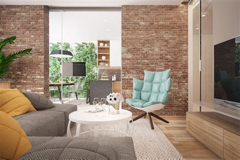 3 Stunning Homes With Exposed Brick Accent Walls by 3 Stunning Homes With Exposed Brick Accent Walls