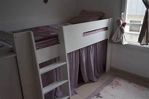Lit Demi Hauteur : le lit mi hauteur wax blanc de liliane ~ Premium-room.com Idées de Décoration