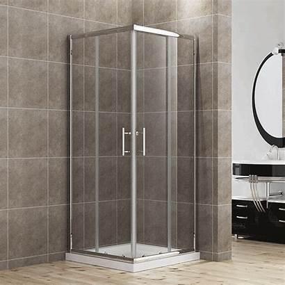 Shower Corner Tray Glass Door Screen Entry