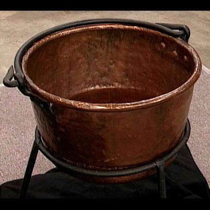 antique apple butter kettle copper kettle copper