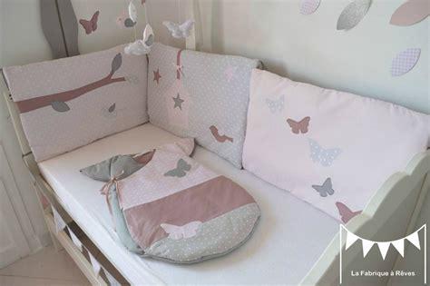 tour de lit bebe fille tour lit b 233 b 233 fille poudr 233 gris ancien papillons oiseau nichoir nuage photo de 1