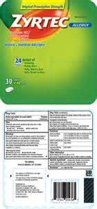 active ingredient in zyrtec allergy  Cetirizine Allergy