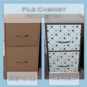 Spray paint ugly file cabinet to match brown in contact for What kind of paint to use on kitchen cabinets for metal music notes wall art