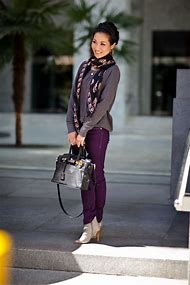 What Goes with Purple Jeans