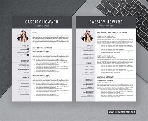 One of the most important first steps in applying to a residency program is the creation of your curriculum vitae. Professional CV Template for MS Word, Simple CV Layout, CV ...