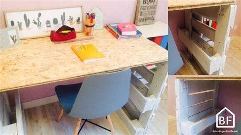 bureau en palette palette en bois diy tutos recyclage récup meubles