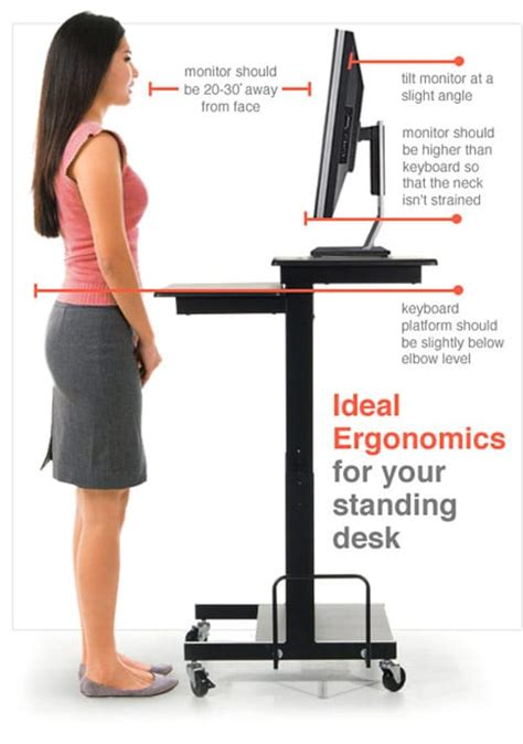 how tall should a standing desk be the ideal way to set up your standing desk examined