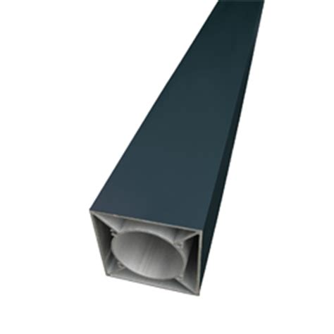 poteau aluminium 90 90mm couleur ral 7016