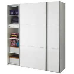porte de chambre coulissante armoire 2 portes coulissantes blanc laqué brillant