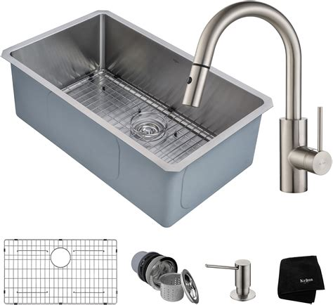 kitchen sink cleaning kraus khu10030262041ss 30 inch kitchen sink and faucet 2620